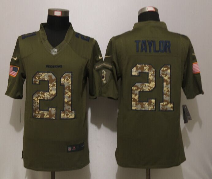 Washington Redskins 21 Taylor Green Salute To Service New Nike Limited Jersey