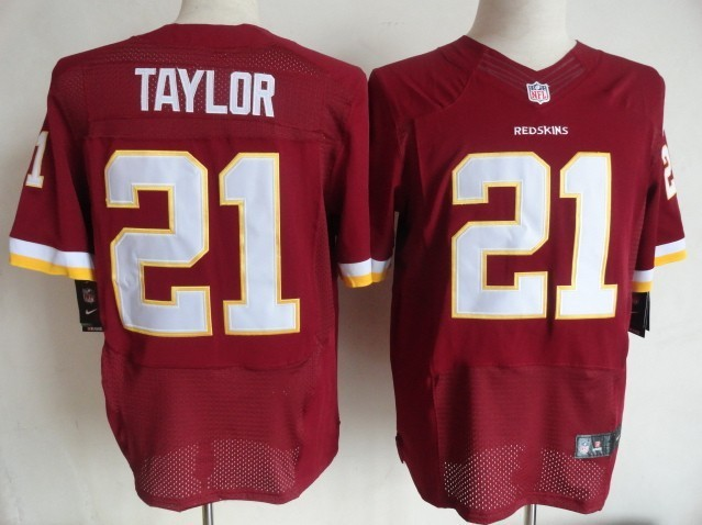 Washington Redskins 21 Taylor Red Nike Elite Jersey