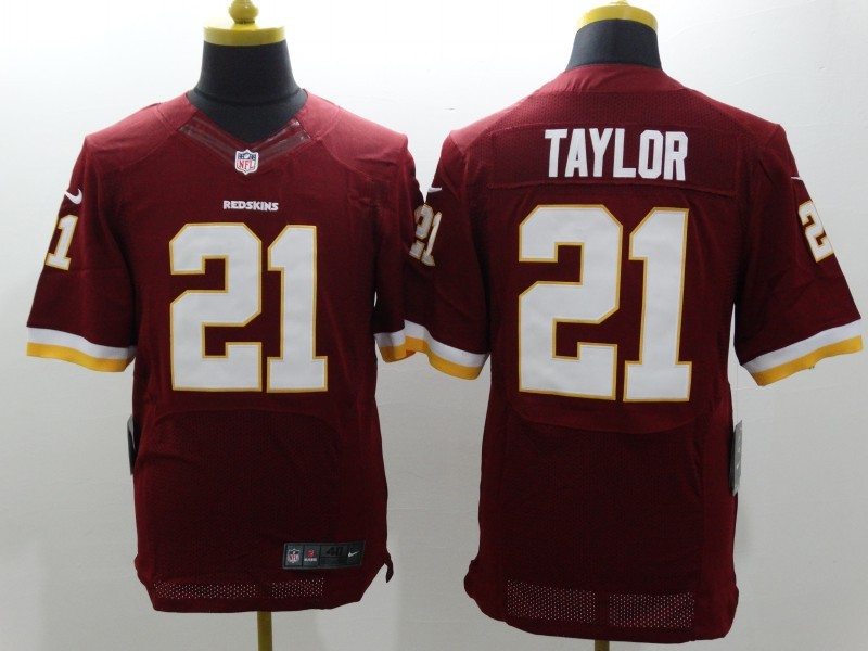 Washington Redskins 21 Taylor Red Nike Elite Jerseys
