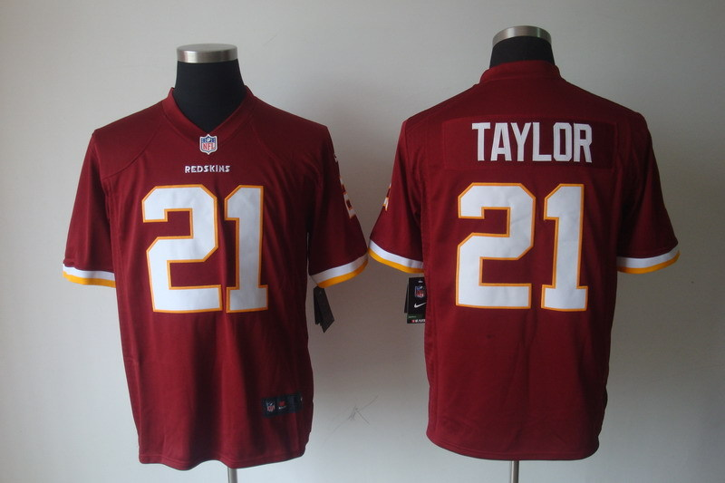 Washington Redskins 21 Taylor Red Nike Game Jerseys.