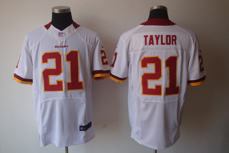 Washington Redskins 21 Taylor White Nike Elite Jerseys