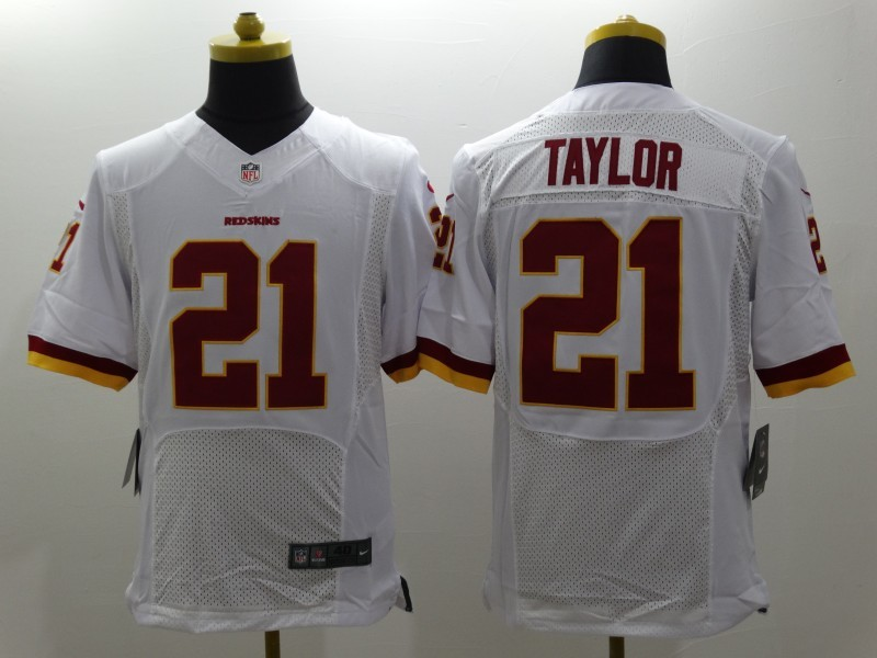 Washington Redskins 21 Taylor White Nike NFL Elite Jerseys