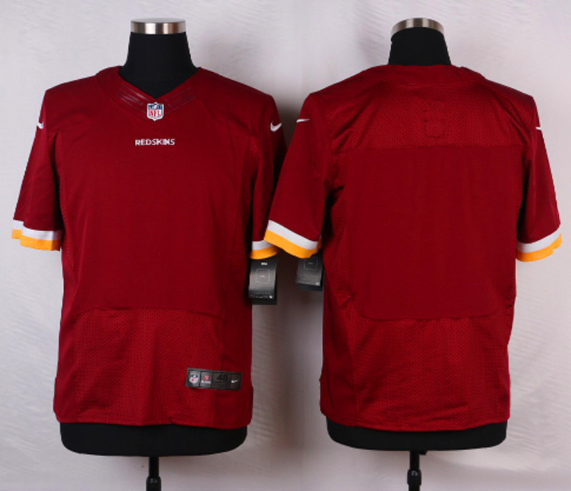 NFL Customize Washington Redskins Blank RED Men Nike Elite Jerseys