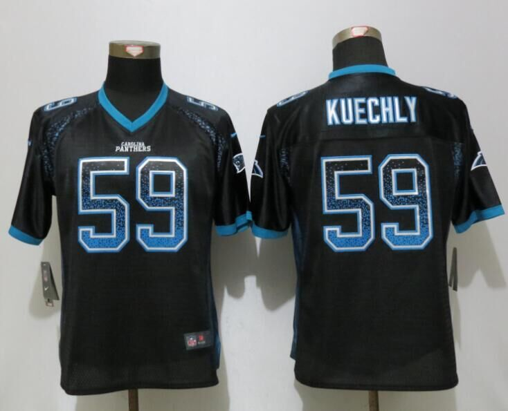 Women NEW Nike Carolina Panthers 59 Kuechly Drift Fashion Black Elite Jerseys