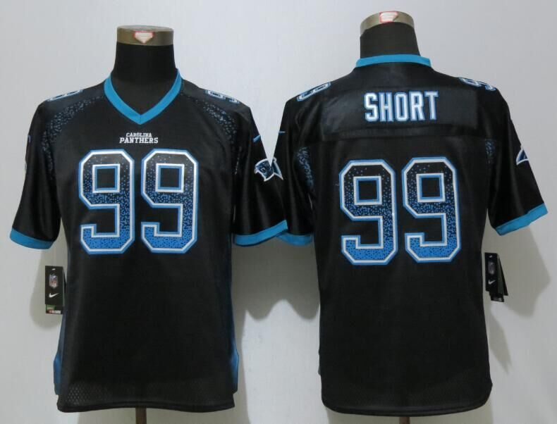 Women NEW Nike Carolina Panthers 99 Short Drift Fashion Black Elite Jerseys