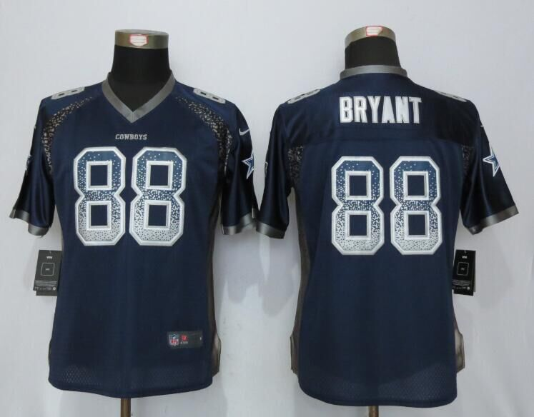 Women NEW Nike Dallas cowboys 88 Bryant Drift Fashion Blue Elite Jerseys
