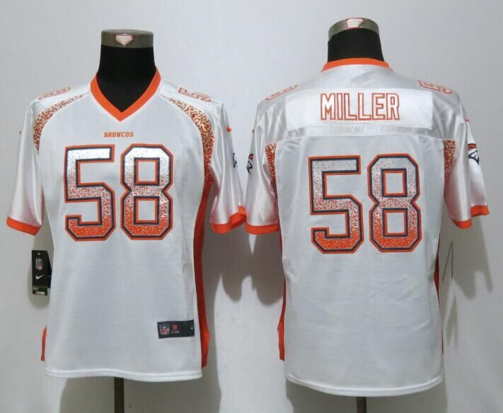 Women NEW Nike Denver Broncos 58 Miller Drift Fashion White Elite Jersey