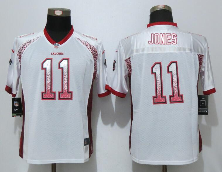 Women New Nike Atlanta Falcons 11 Jones Drift Fashion White Elite Jerseys