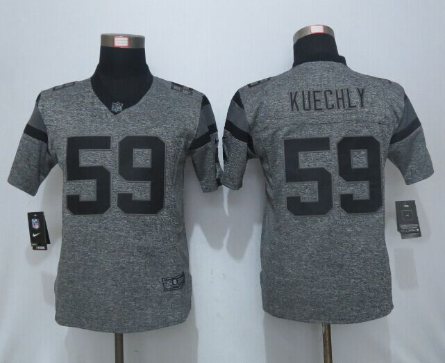Women New Nike Carolina Panthers 59 Kuechly Gray Men's Stitched Gridiron Gray Limited Jersey