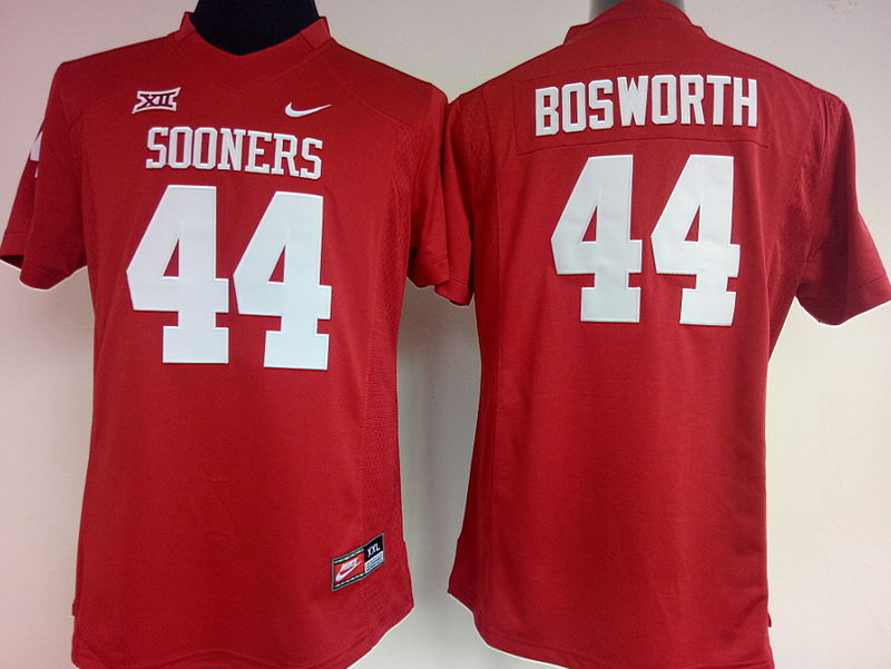 Womens 2016 NCAA Oklahoma Sooners 44 Bosworth Red Jerseys