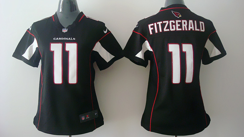 Womens Arizona Cardinals 11 Larry Fitzgerald Black Nike Jerseys