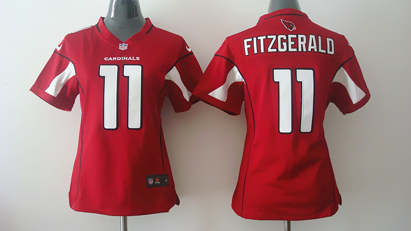Womens Arizona Cardinals 11 Larry Fitzgerald Red Nike Jerseys