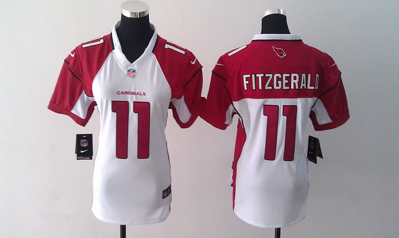 Womens Arizona Cardinals 11 Larry Fitzgerald White Nike Jerseys