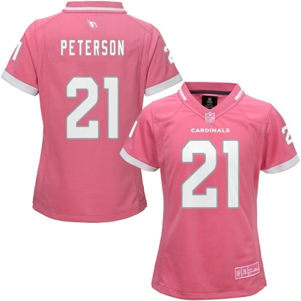 Womens Arizona Cardinals 21 Peterson 2015 Pink Bubble Gum Jersey
