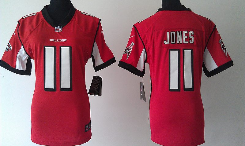 Womens Atlanta Falcons 11 Julio Jones Red Nike Jerseys