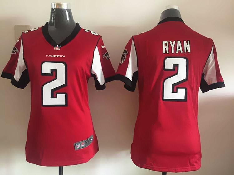 Womens Atlanta Falcons 2 Matt Ryan Red Nike Jersey