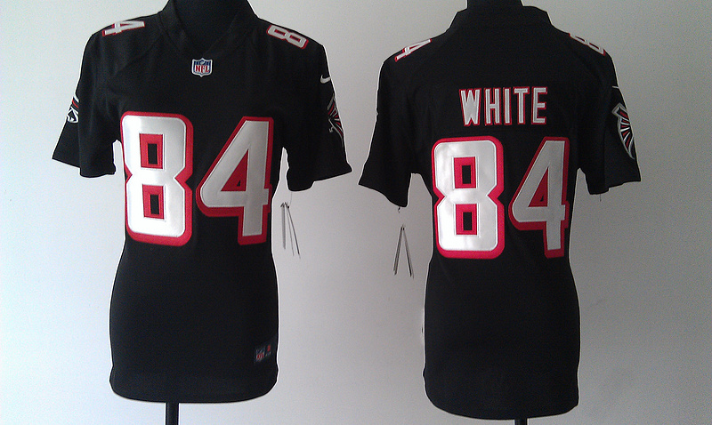 Womens Atlanta Falcons 84 White Black Nike Jerseys