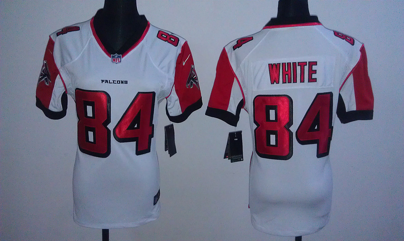 Womens Atlanta Falcons 84 White White Nike Jerseys