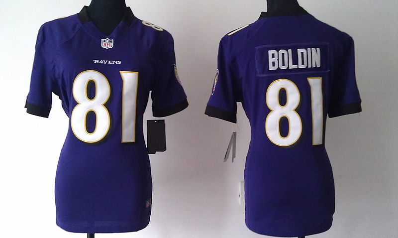 Womens Baltimore Ravens 81 Boldin Purple Nike Jerseys