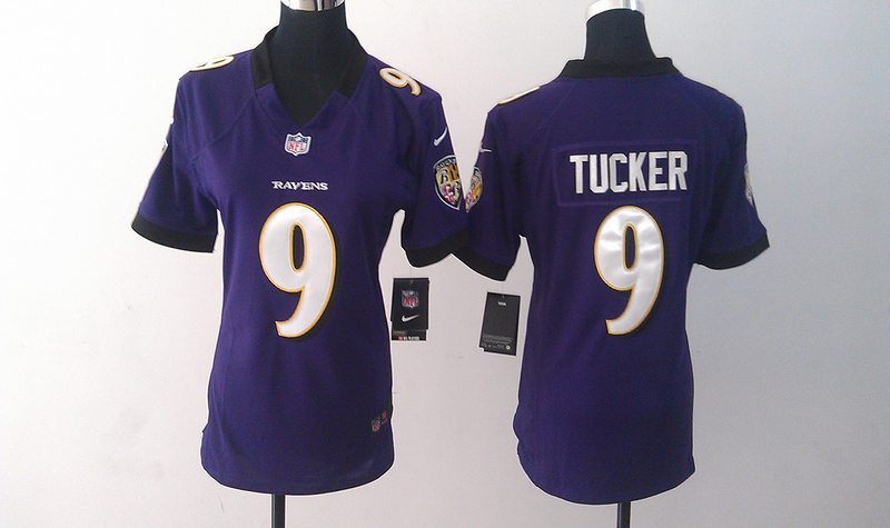 Womens Baltimore Ravens 9 Justin Tucker Purple Nike Jerseys