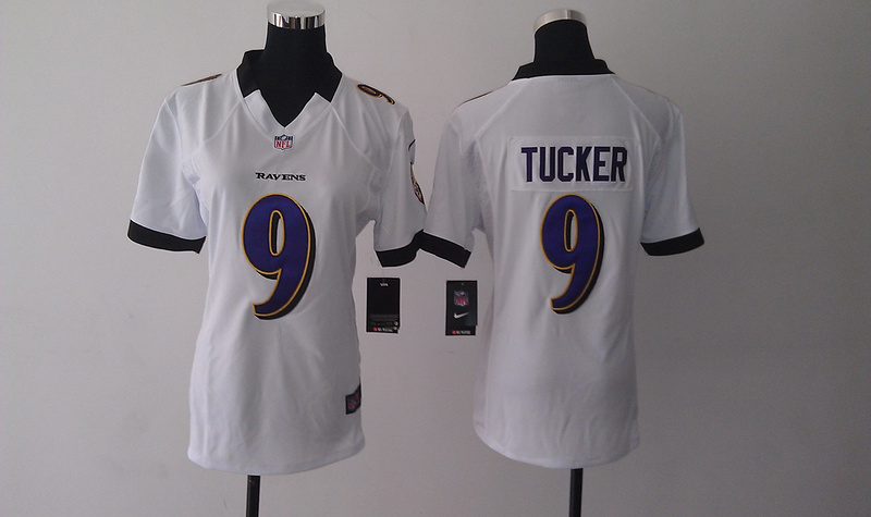 Womens Baltimore Ravens 9 Justin Tucker white Nike Jerseys
