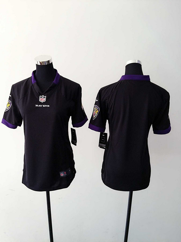 Womens Baltimore Ravens Blank Black Nike Jerseys