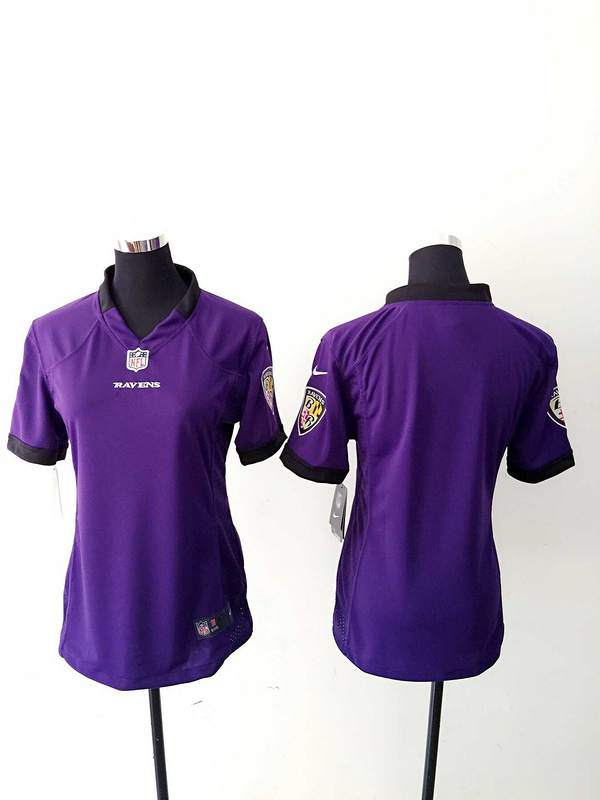 Womens Baltimore Ravens Blank Purple Nike Jerseys