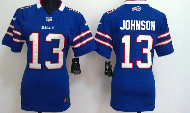 Womens Buffalo Bills 13 Steve Johnson Blue Nike Jerseys