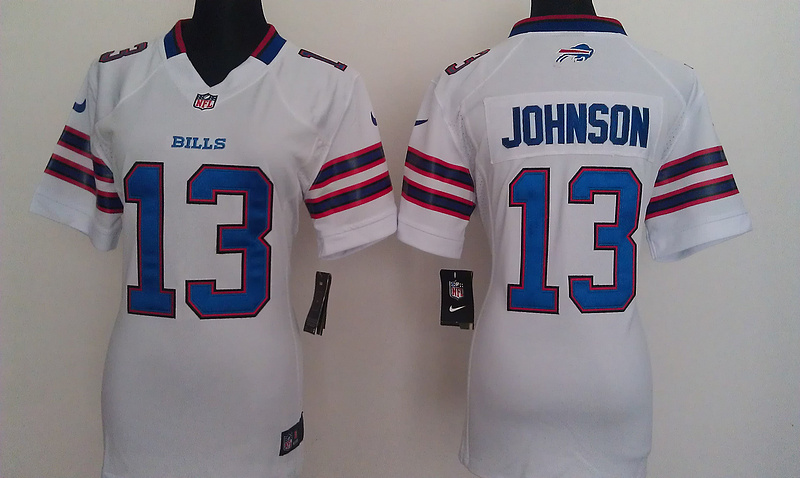 Womens Buffalo Bills 13 Steve Johnson White Nike Jerseys