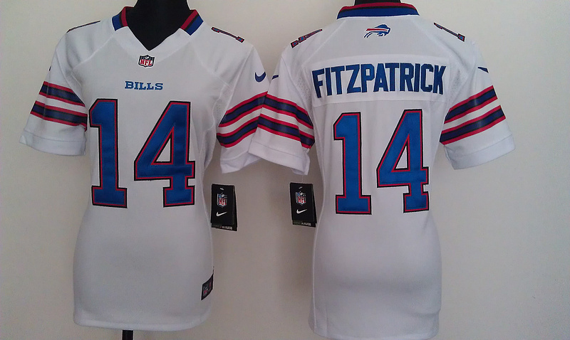 Womens Buffalo Bills 14 Fitzpatrick White Nike Jerseys