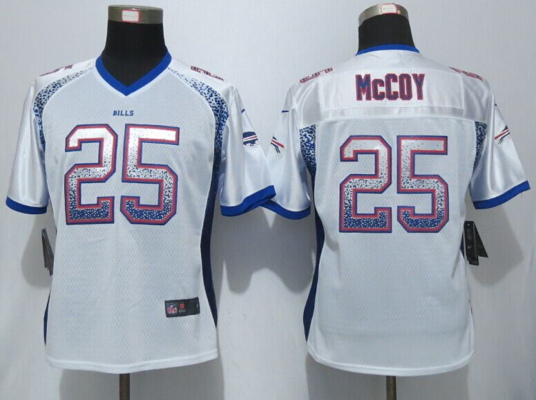 Womens Buffalo Bills 25 McCoy Drift Fashion White New Nike Elite Jerseys