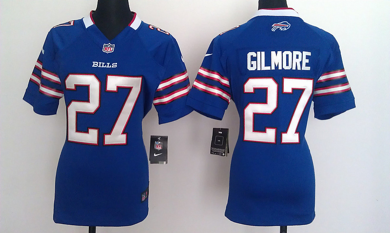 Womens Buffalo Bills 27 Gilmore Blue Nike Jerseys
