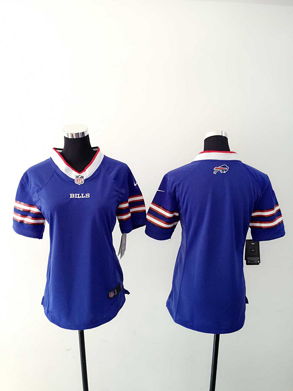 Womens Buffalo Bills Blank Blue Nike Jerseys