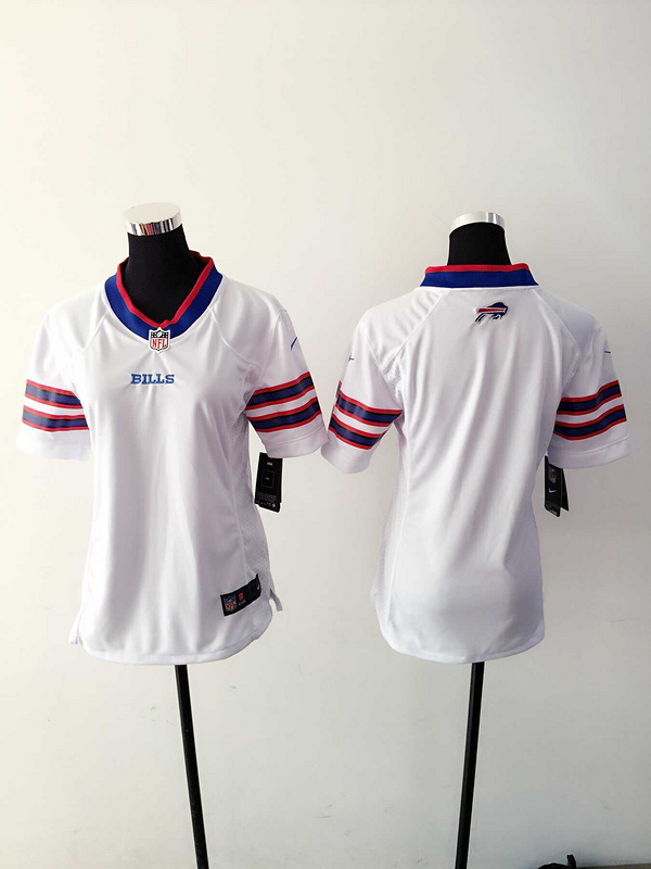 Womens Buffalo Bills Blank White Nike Jerseys