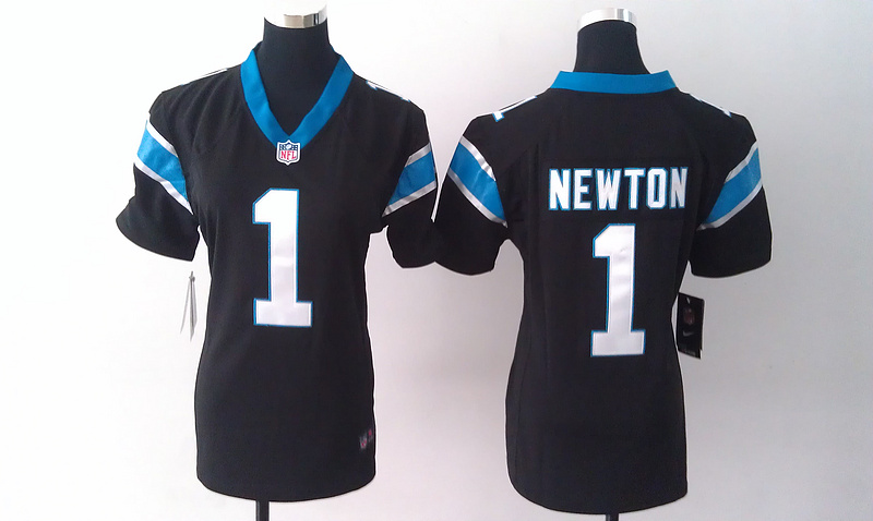 Womens Carolina Panthers 1 Cam Newton Black Nike Jerseys
