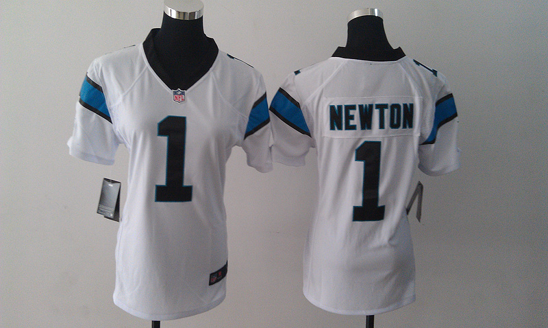 Womens Carolina Panthers 1 Cam Newton White Nike Jerseys