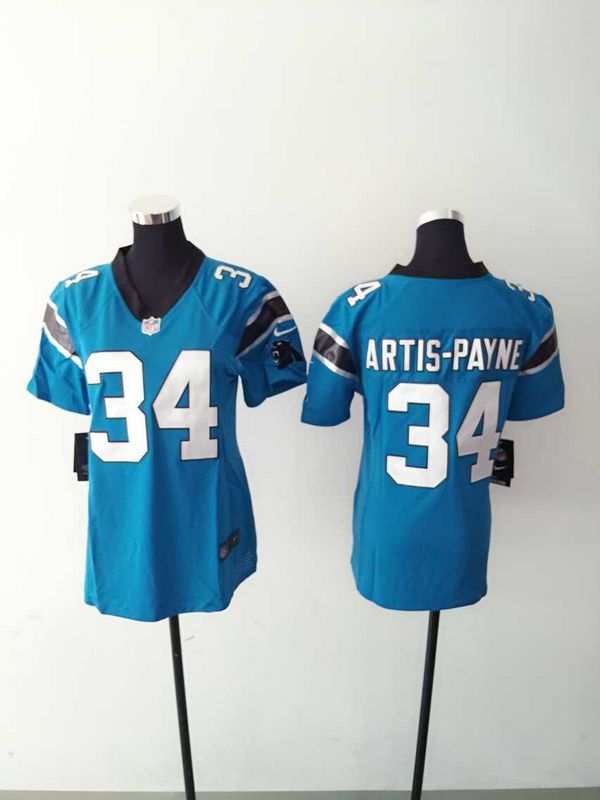 Womens Carolina Panthers 34 Artis-Payne Blue 2015 Nike Jerseys