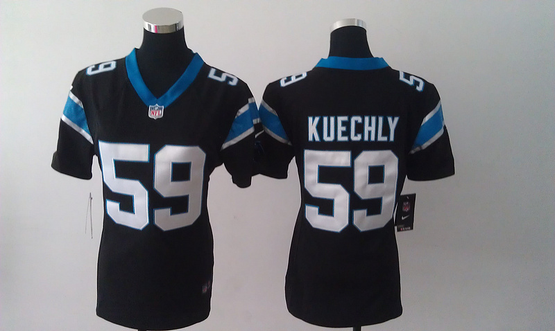 Womens Carolina Panthers 59 Kuechly Black Nike Jerseys