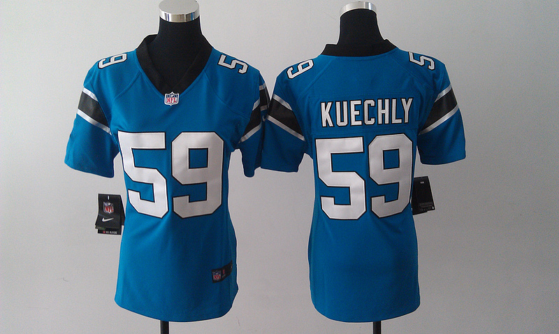Womens Carolina Panthers 59 Kuechly Blue Nike Jerseys