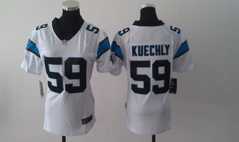 Womens Carolina Panthers 59 Kuechly White Nike Jerseys