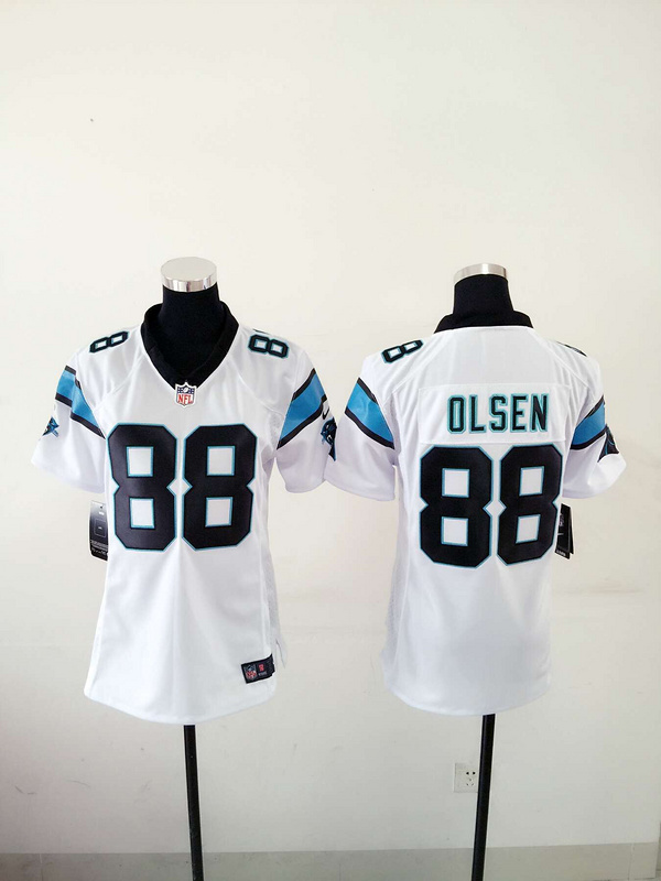 Womens Carolina Panthers 88 Greg Olsen White 2015 Nike Jerseys