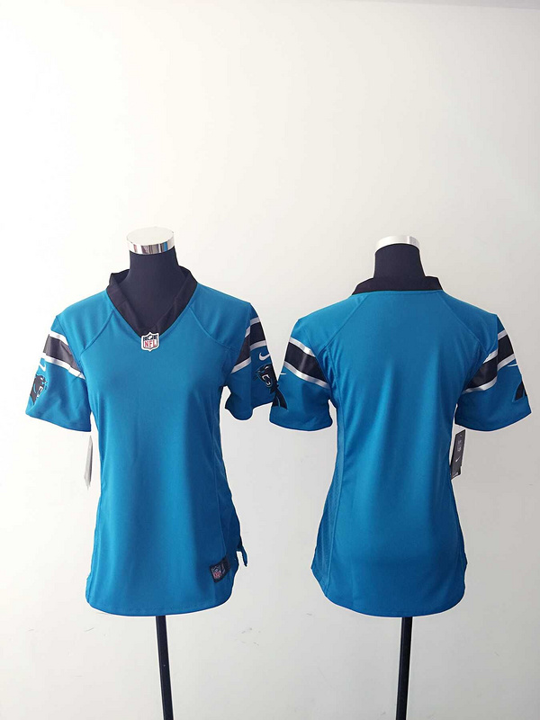 Womens Carolina Panthers Blank Blue Nike Jerseys