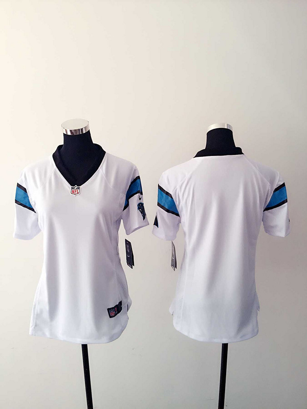 Womens Carolina Panthers Blank White Nike Jerseys
