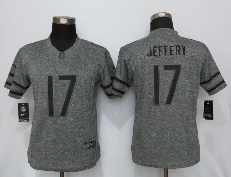 Womens Chicago Bears 17 Jeffery Gray Stitched Gridiron Gray New Nike Limited Jersey