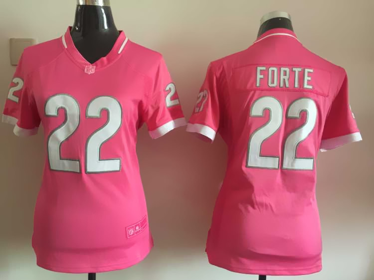 Womens Chicago Bears 22 Forte 2015 Pink Bubble Gum Jersey.