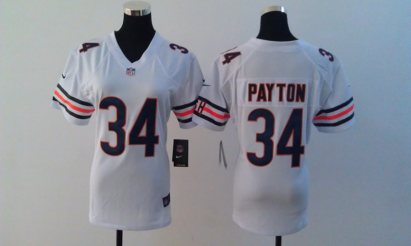 Womens Chicago Bears 34 Walter Payton White Nike Jerseys