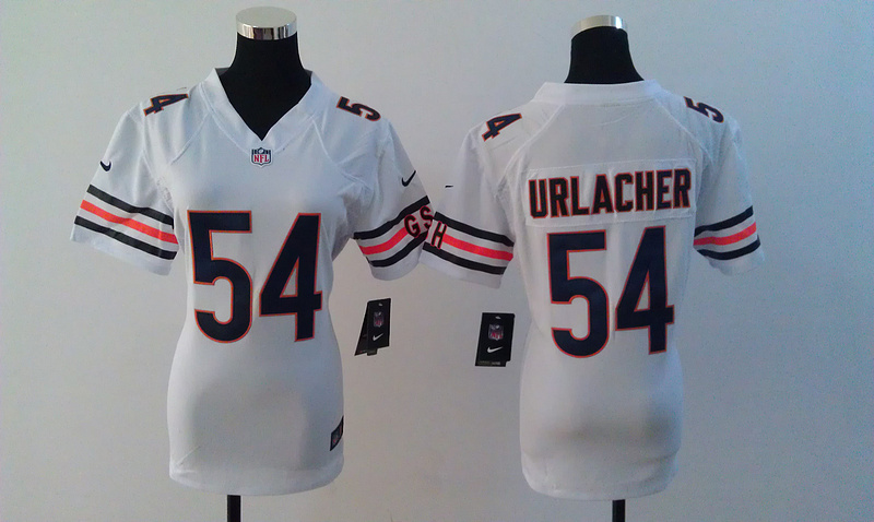 Womens Chicago Bears 54 Brian Urlacher White Nike Jerseys