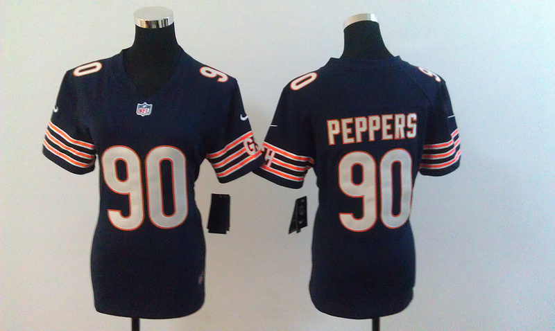 Womens Chicago Bears 90 Peppers Blue Nike Jerseys