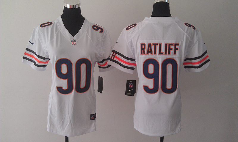 Womens Chicago Bears 90 Ratliff White Nike Jerseys