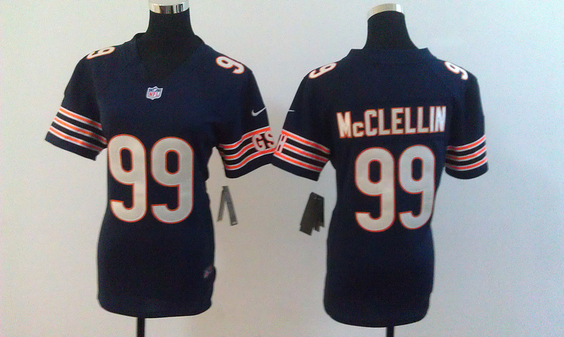 Womens Chicago Bears 99 Mcclellin Blue Nike Jerseys
